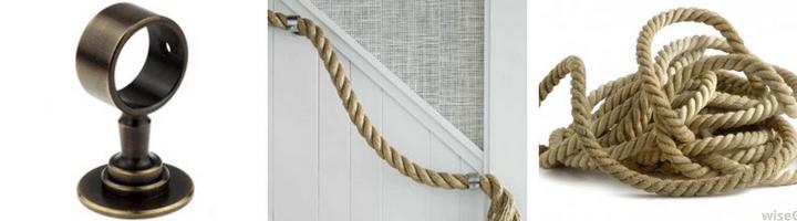 Kovinski zaključki in nosilci za vrv, mat nikel