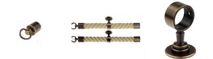 Kovinski zaključki in nosilci za vrv, bronzani