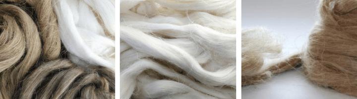 Različna rastlinska vlakna v trakovih