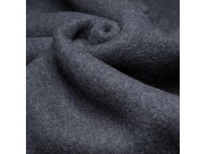 Mehak Merino Bombažni flis, debelejši, blago, ANTRACIT, SIVA 420g/m2, širina 130 cm