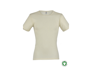 EKO Merino Svilena Moška majica /b essential - NATUR