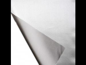 Svilena ravna rjuha, debelejša svila - SREBRNA - sijaj/mat