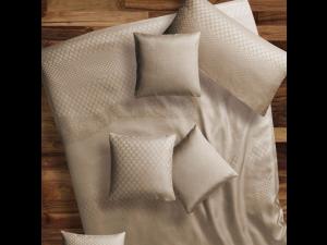 BARCELONA BEIGE Svilena jogi rjuha - Žakard lažja svila