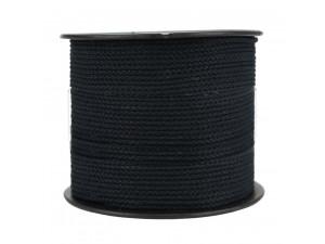 Bombažna pletena vrvica - ČRNA - Ø 1,5 mm / Kolut 100 m ali 500 m