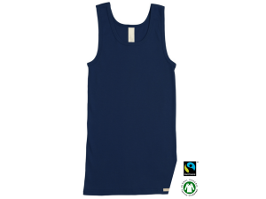 EKO Bombažna Otroška majica /a basic - TEMNO MODRA - 104 do 164