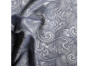 Žakard Svileno blago, Težka svila - MOMENTO BLU - (širina 280 cm) / 31 momme (mm)
