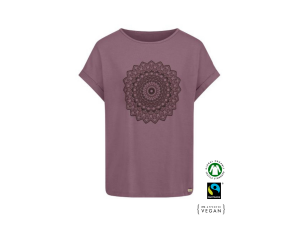 EKO Bombažna Ženska majica /b yoga - VIJOLIČNA