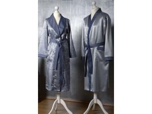 Svilena Moška jutranja halja - MODRA