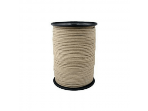 Konopljina pletena vrvica, Ø 6 mm