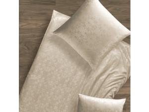 Svilena žakard prevleka za blazino, lažja svila, NATUR  - KROWN