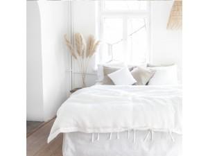 Lanena posteljnina - BELA