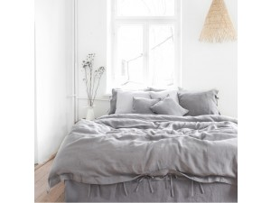 Lanena posteljnina - SIVA