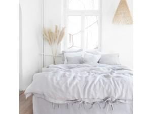 Lanena posteljnina - SVETLO SIVA