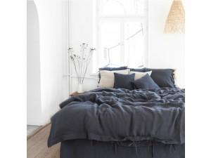 Lanena posteljnina - TEMNO SIVA
