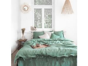 Lanena posteljnina - ZELENA