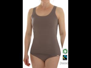 EKO Bombažna Ženska majica /a basic - RJAVA