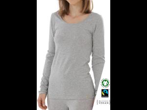 EKO Bombažna Ženska majica /c bodyfit - SIVA