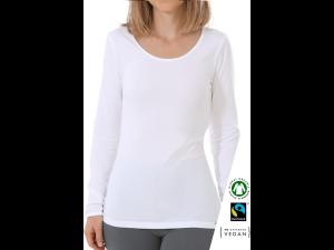 EKO Bombažna Ženska majica /c bodyfit - BELA