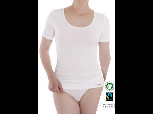 EKO Bombažna Ženska majica /b bodyfit - BELA