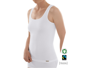 EKO Bombažna Ženska majica /a bodyfit - BELA