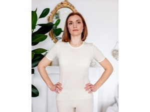 EKO Merino Svilena Ženska majica /b essential - NATUR