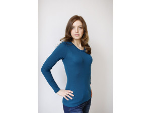 EKO Merino Ženska majica /c original - TEMNO MODRA