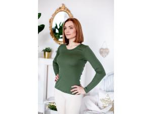 EKO Merino Ženska majica /c original - ZELENA