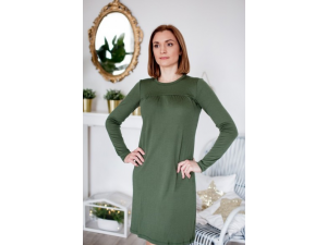 EKO Merino Ženska spalna srajca /c original - ZELENA