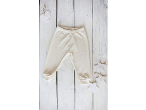 EKO Merino Svilene Otroške hlače /essential - NATUR - vel. 56 do 104