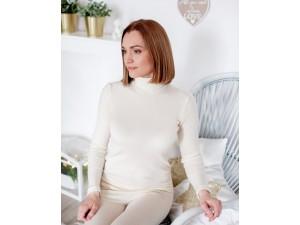 EKO Merino Svileni Ženski puli /c essential - NATUR