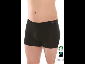 EKO Bombažne Moške Boxer spodnje hlače /elegant - ČRNA