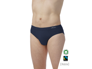 EKO Bombažne Moške Slip spodnje hlače /bodyfit - MODRA