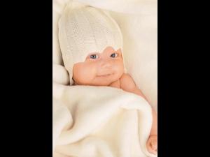 Svilena Otroška kapa - NATUR