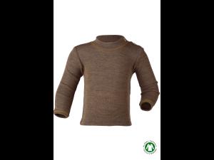 EKO Merino Svilena Otroška majica /c essential - RJAVA - vel. 62/68 do 110/116