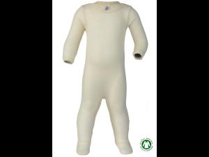 EKO Merino Svilen Otroški spalni kombinezon /c essential - NATUR - vel. 50/56 do 86/92