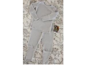 EKO Merino Otroška pižama /c original - SIVA - vel. 86 do 116