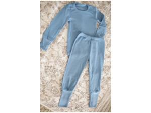 EKO Merino Otroška pižama /c original - SVETLO MODRA - vel. 122 do 152