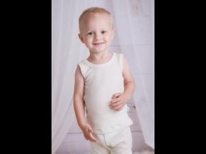 EKO Merino Svilena Otroška majica /a essential - NATUR - vel. 62 do 116