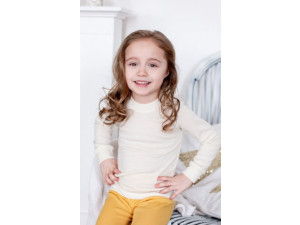 EKO Merino Svilena Otroška majica /c essential - NATUR - vel. 62 do 152