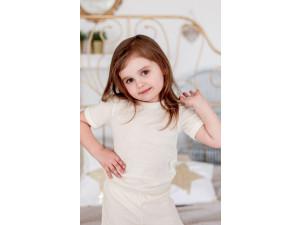 EKO Merino Svilena Otroška majica /b essential - NATUR - vel. 62 do 152