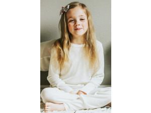 EKO Merino Svilena Otroška pižama /c essential - NATUR - vel. 86 do 152