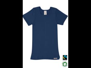 EKO Bombažna Otroška majica /b basic - TEMNO MODRA - 104 do 164