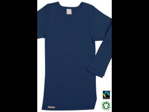 EKO Bombažna Otroška majica /c basic - TEMNO MODRA - 104 do 164