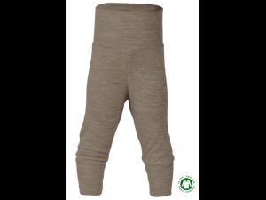 EKO Merino Svilene Otroške hlače /essential - RJAVA - vel. 50/56 do 86/92