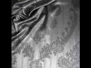 ROYAL Svilena ravna rjuha - Žakard težka svila / 31 momme (mm)