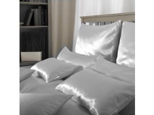 SATEN Svilena posteljnina, Srednje težka svila - MARIN MODRA - sijaj/mat / 28 momme (mm)