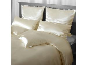 SATEN Svilena posteljnina, Srednje težka svila - NATUR -  sijaj/mat / 26 momme (mm)