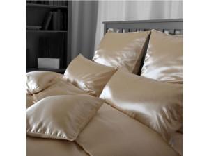SATEN Svilena posteljnina, Srednje težka svila / tussah svila - NATUR - sijaj/mat / 27 momme (mm)