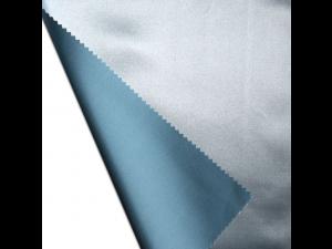 Saten Svileno blago, Srednje težka svila - MODRA - sijaj/mat (širina 280 cm) / 28 momme (mm)