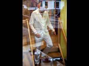 Svilena Moška pižama - NATUR